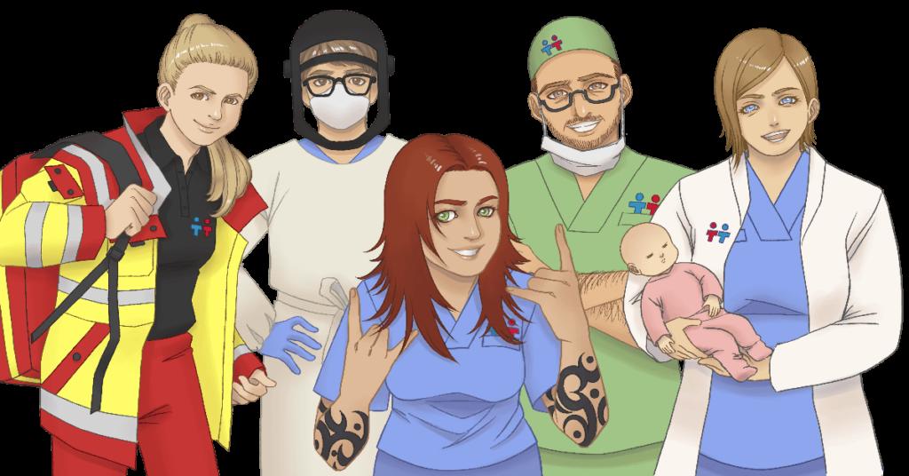 Berufe-Qualifikationen-Krankenhaus-Krankenschwester-Notfallsanitaeter-Arzt-Chirurg-Hebamme