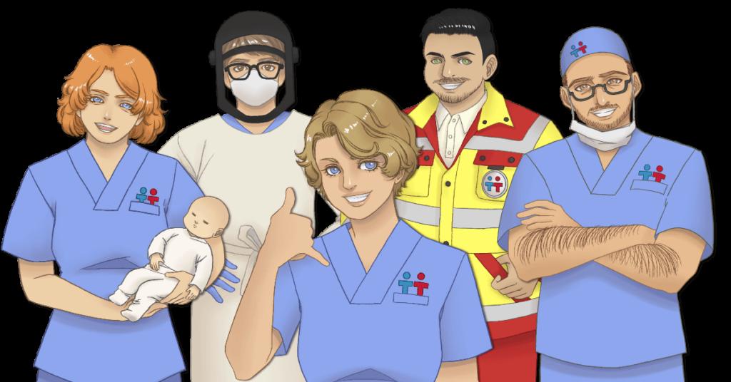 Berufe-Qualifikationen-Pflegekraefte-Rettungskraefte-Co-Krankenschwester-Notfallsanitaeter-OTA-ATA-Hebamme